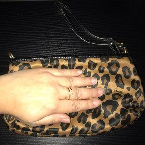 Coach Bags - Large Leopard Coach Wristlet